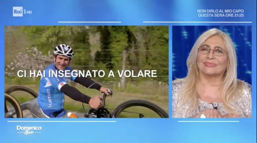 Mara Venier omaggia alex Zanardi