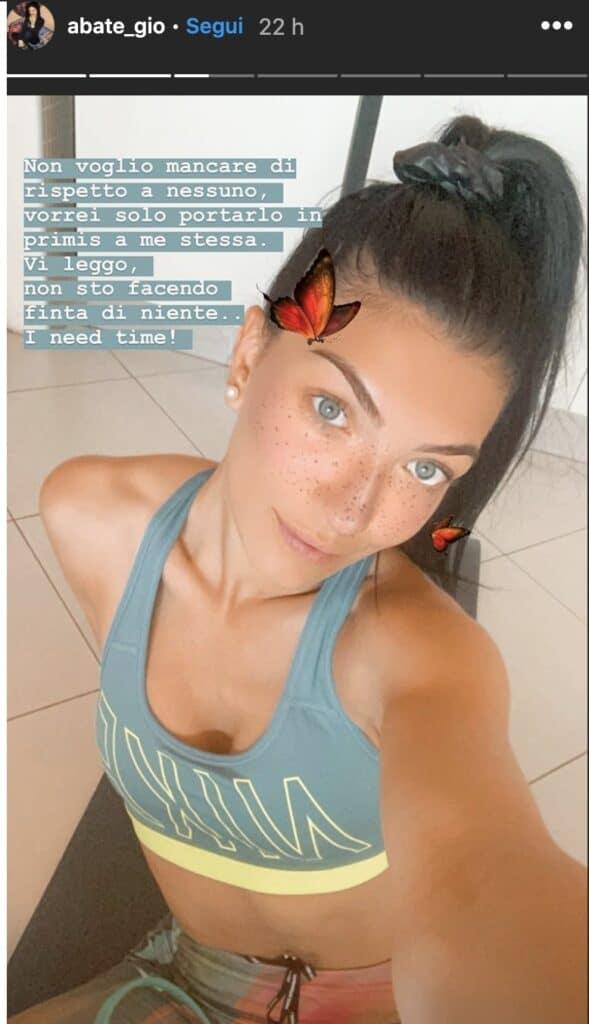 La Storia su Instagram di Giovanna Abate