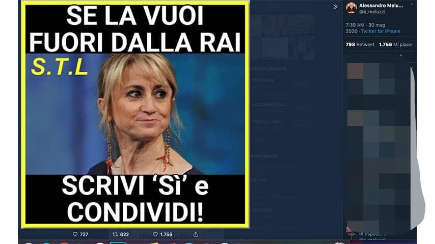 Tweet di Alessandro Meluzzi contro Luciana Littizzetto