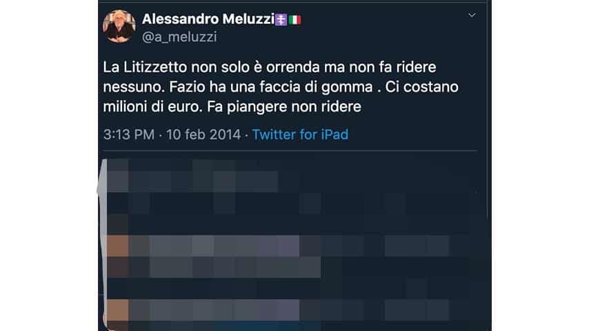 Tweet di Alessandro Meluzzi