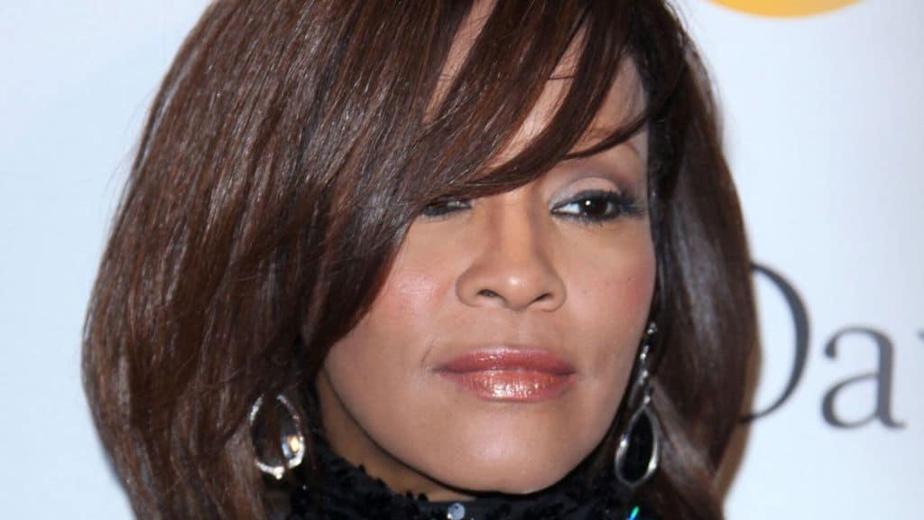 Whitney Houston presenzia a un gala