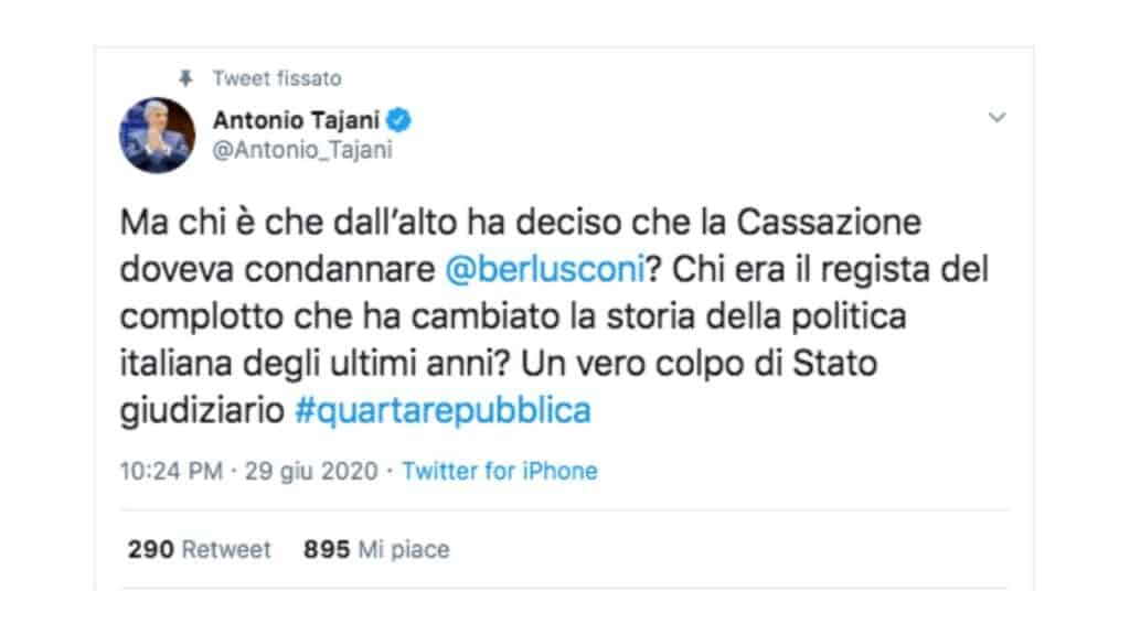 post twitter antonio tajani