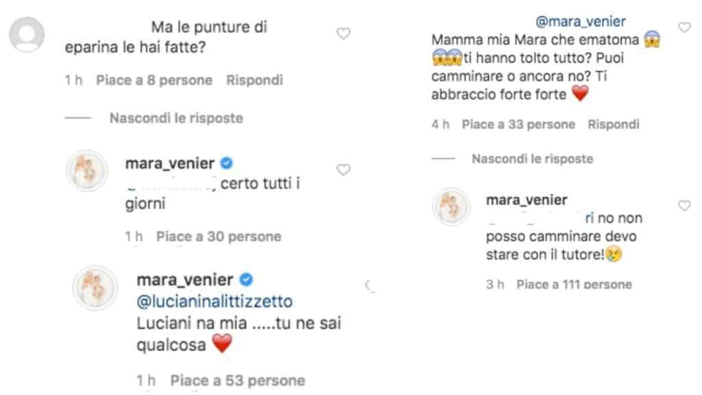 commenti scritti su instagram da mara venier e luciana littizzetto