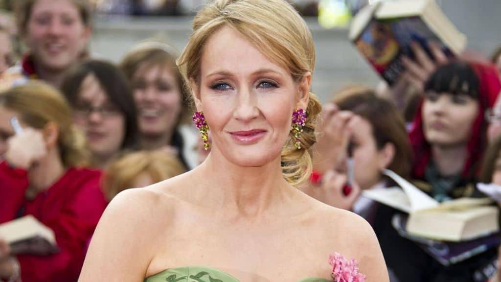 La scrittrice JK Rowling sul red carpet