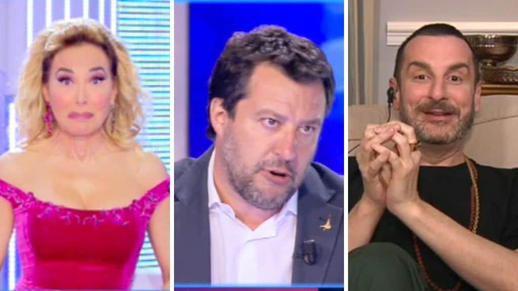 Barbara d'Urso, Matteo Salvini e Costantino della Gheradesca