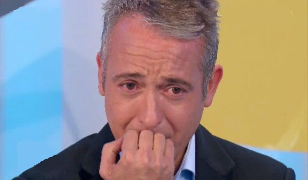 Pierluigi Diaco in lacrime