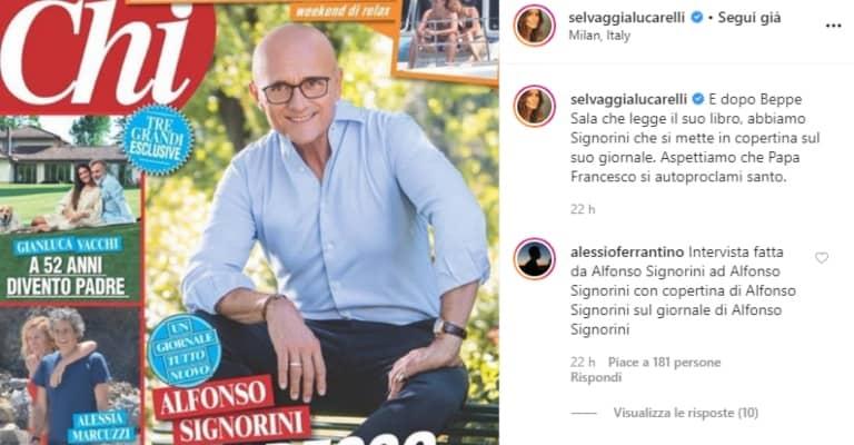 il post instagram in cui Selvaggia Lucarelli attacca Signorini