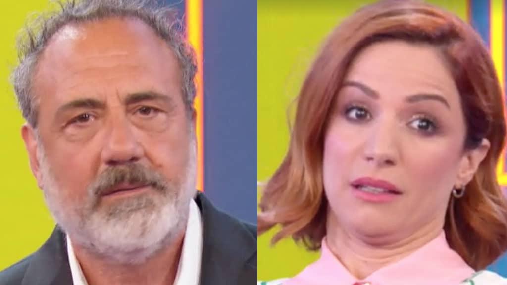 Marcello Masi e Andrea Delogu a La Vita in Diretta Estate