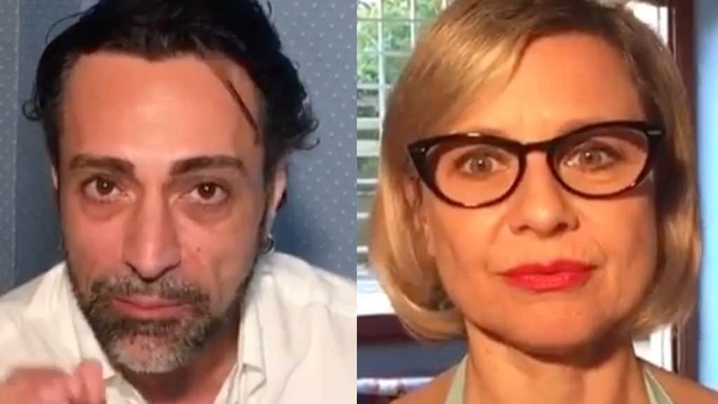Primo piano di Pietro Delle Piane e Antonella Elia