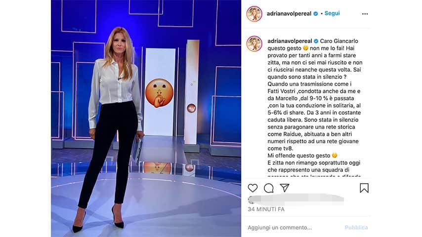 Post di Adriana Volpe su Instagram