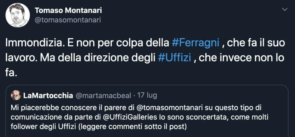 Il tweet di Tomaso Montanari