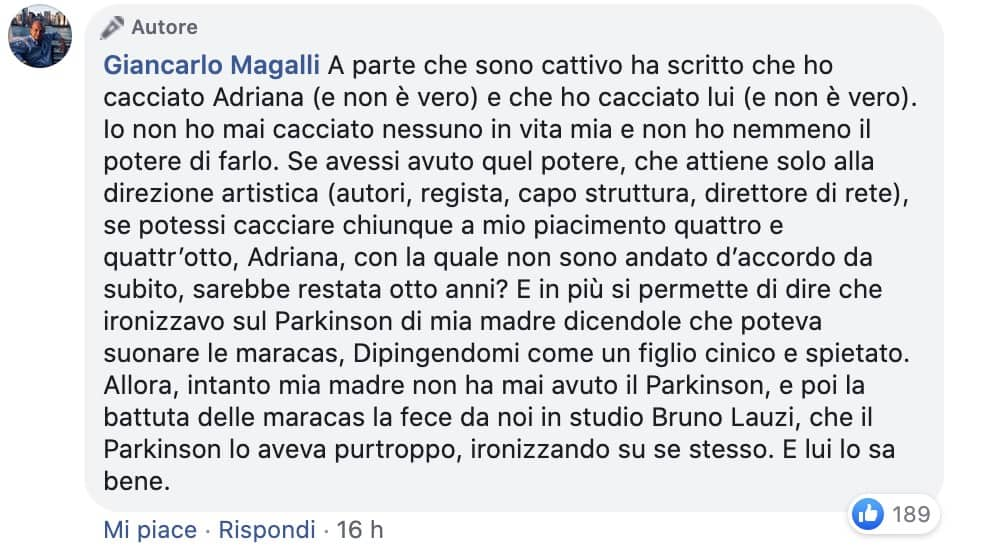 I Fatti Vostri: Giancarlo Magalli porta in tribuna Marcello Cirillo