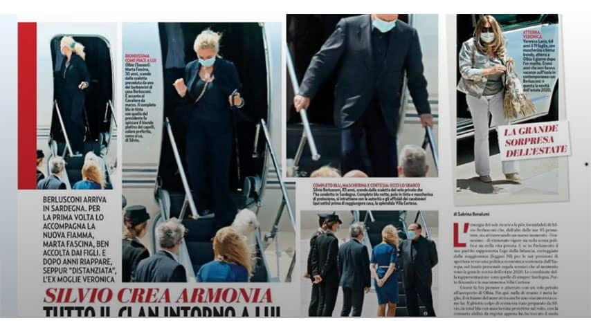 Servizio del settimanale Gente su Silvio Berlusconi e Marta Fascina