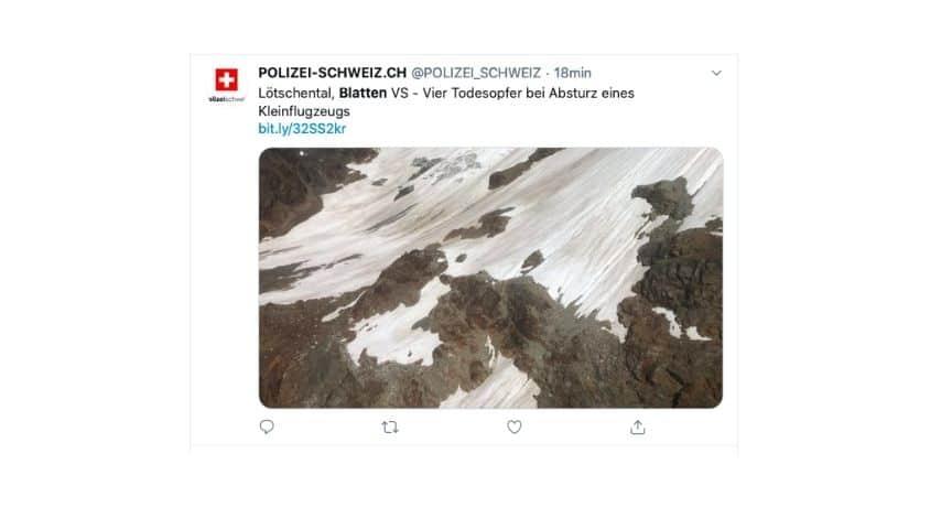 le immagini dell'aereo precpitato in svizzera