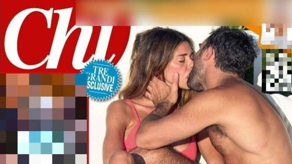 Belén Rodriguez e il bacio a Gianmaria Antinolfi