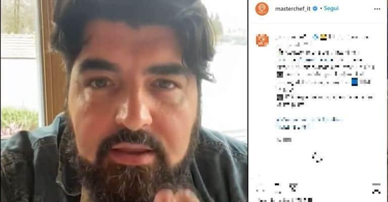 Chef Antonino Cannavacciuolo in un video caricato dal profilo Instagram di Masterchef Italia