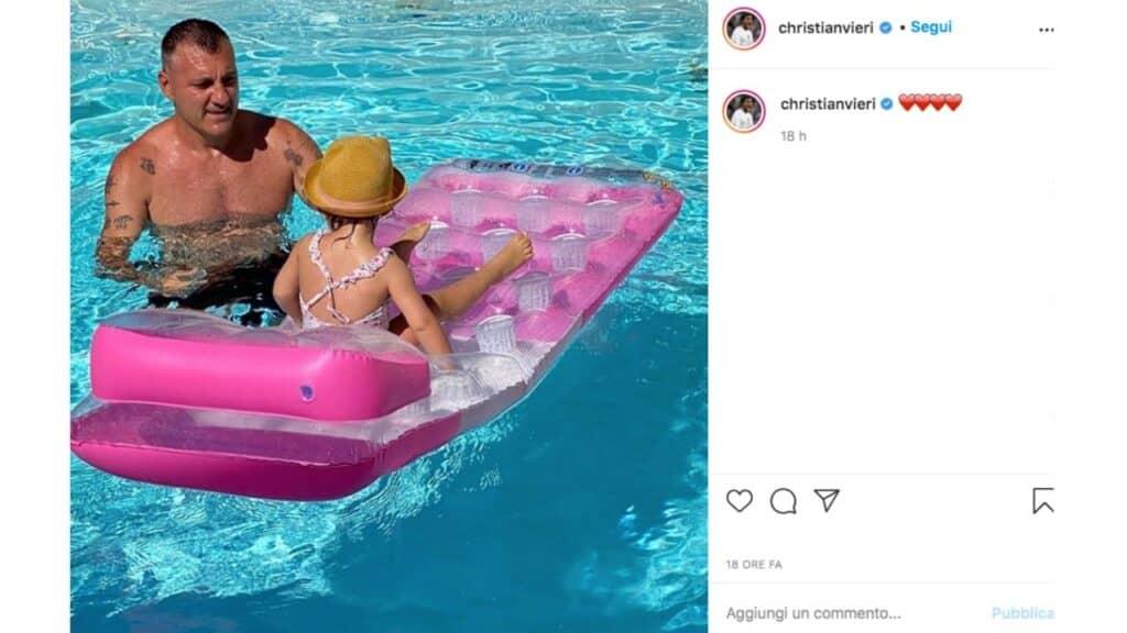 Christian Vieri e la figlia Stella