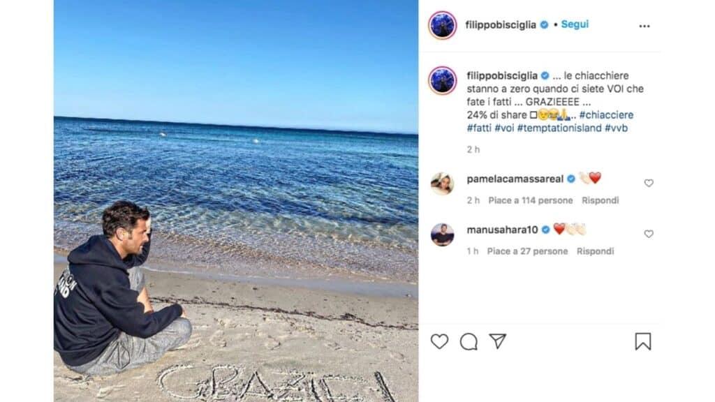 Filippo Bisciglia post instagram