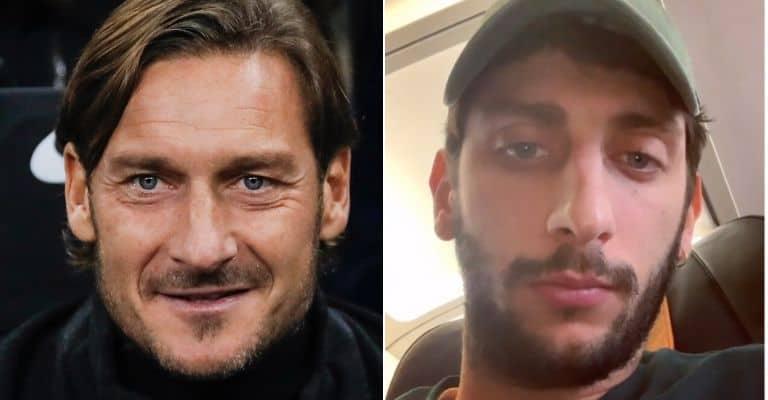 Francesco Totti e Pietro Castellitto a confronto