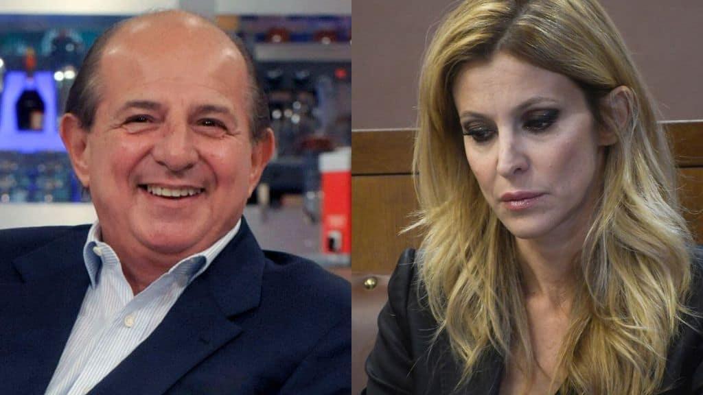 Primi piani di Giancarlo Magalli e Adriana Volpe