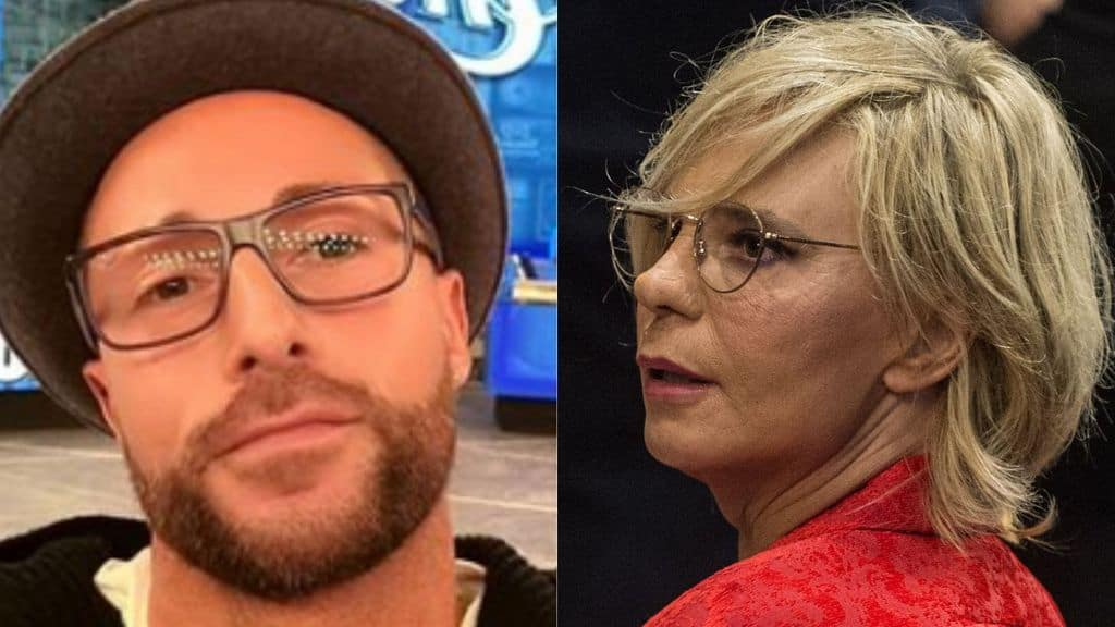 ivan cottini e maria de filippi in primo piano