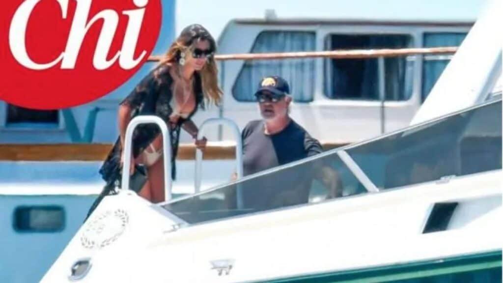 Maria Ludovica Campana e Flavio Briatore in barca