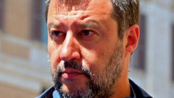 Matteo Salvini in primo piano