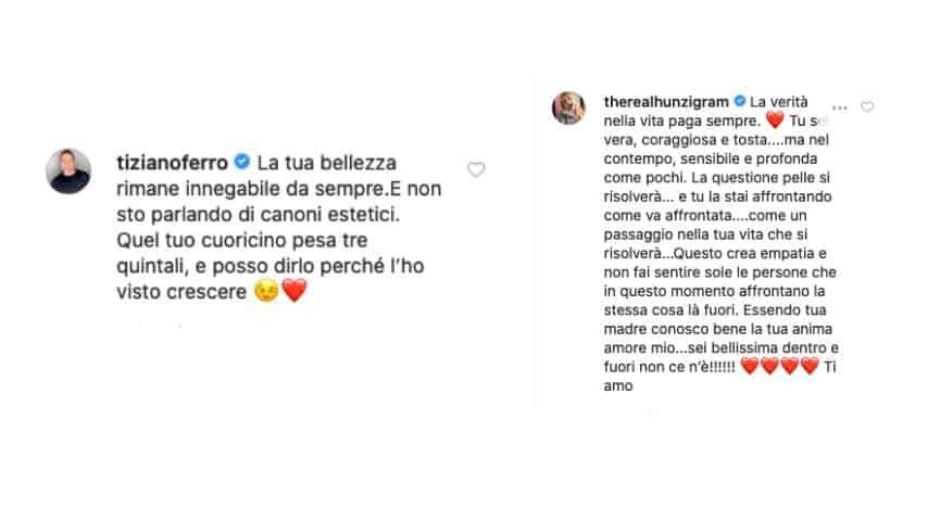 Il commento di Michelle Hunziker e Tiziano Ferro