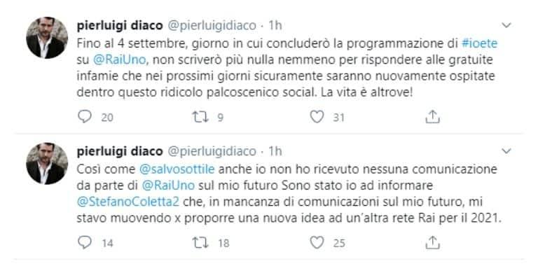 Palinsesti Rai, Pierluigi Diaco escluso:
