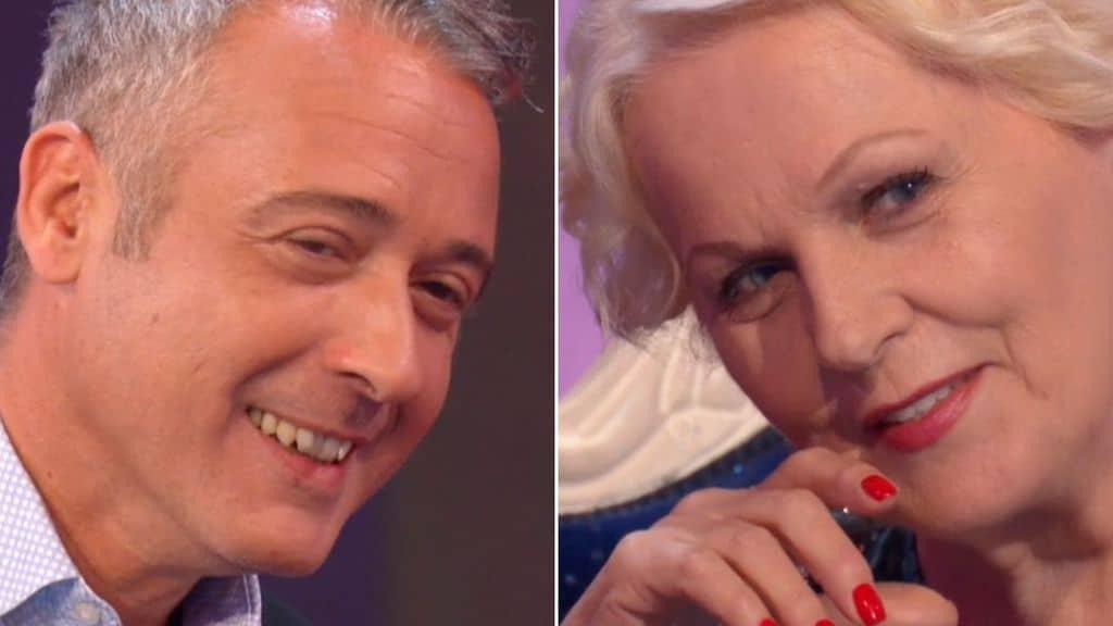 Il conduttore Pierluigi Diaco e Katia Ricciarelli