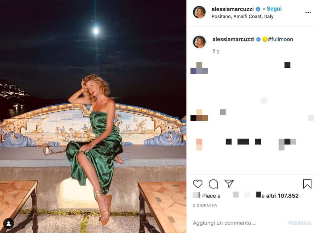 il post instagram di Alessia Marcuzzi