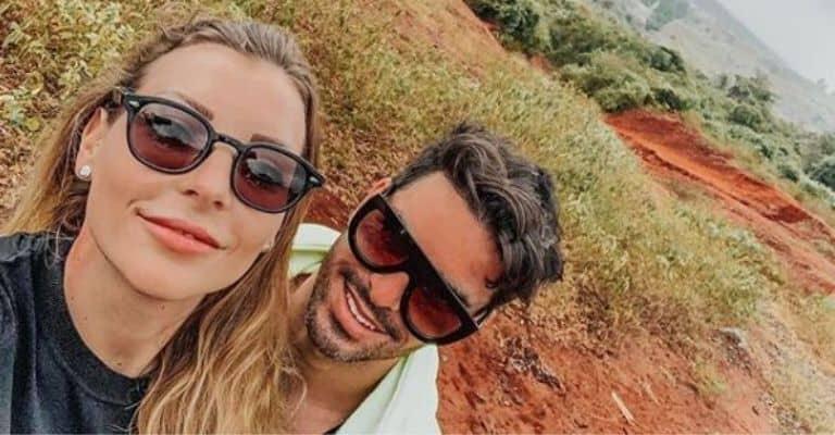 Selfie di Tara Gabrieletto con il marito Cristian Galella