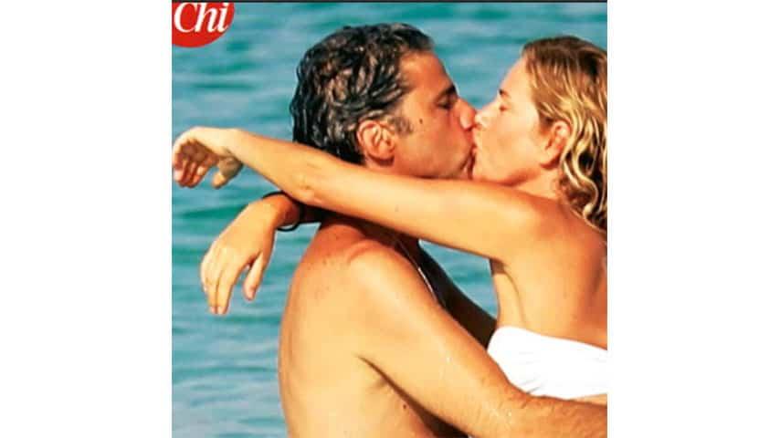 Alessia Marcuzzi e Paolo Calabresi Marconi in una foto del settimanale Chi