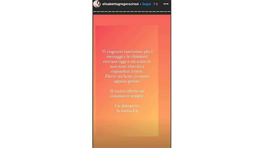 Instagram Story di Elisabetta Gregoraci
