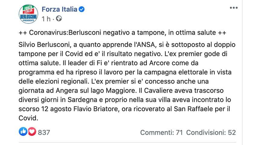 Post di Forza Italia