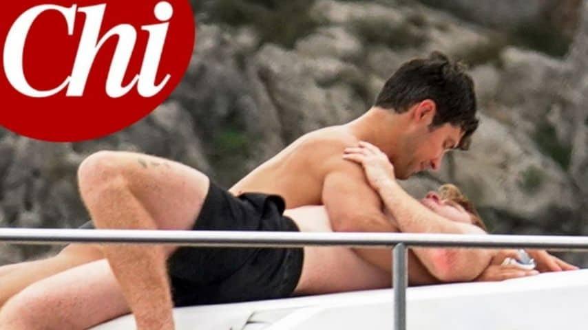 Roberto Bolle in vacanza con il fidanzato Daniel Lee. Fonte: Chi