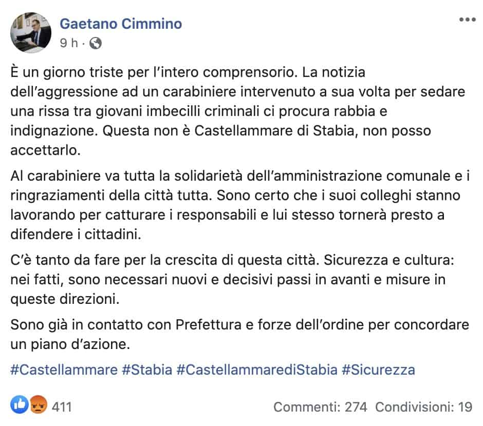 Il post di Gaetano Cimmino