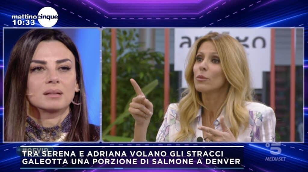 La lite al Grande Fratello Vip tra Serena Enardu e Adriana Volpe