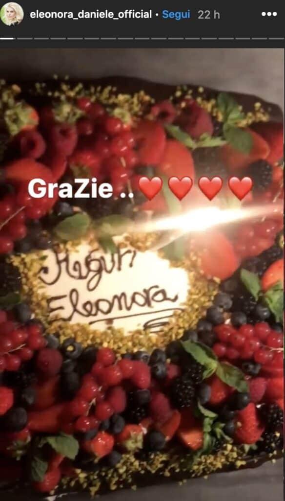 Una Storia Instagram di Eleonora Daniele
