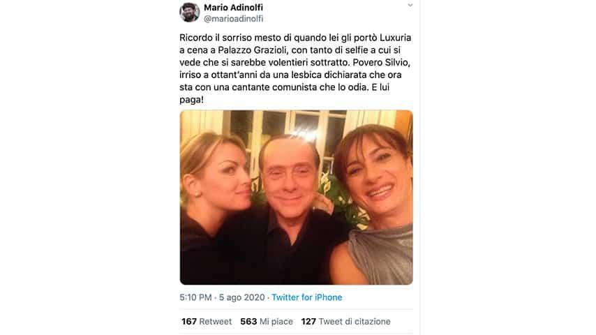 Tweet di Mario Adinolfi