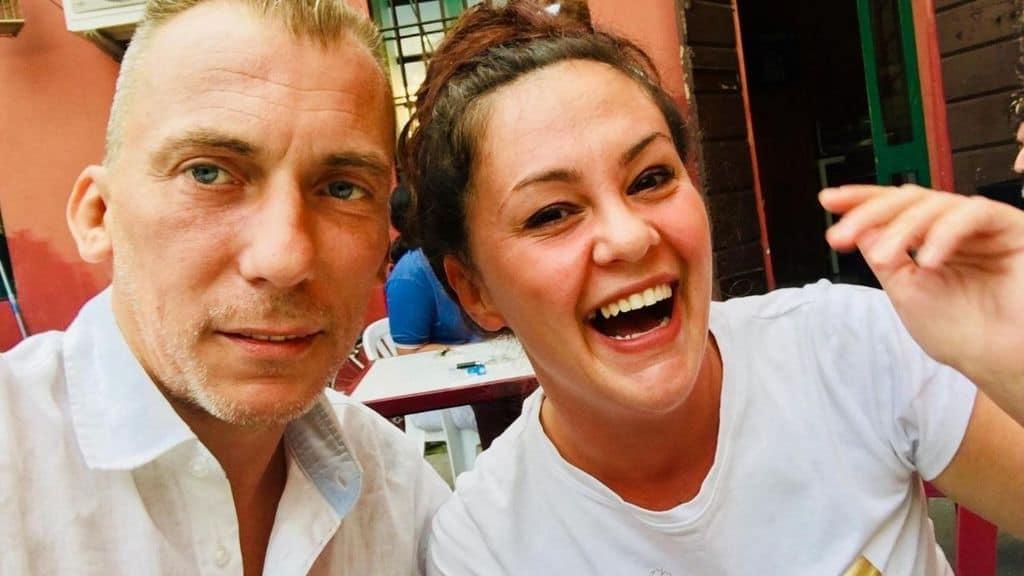 Alessandro Pasini insieme a Sabrina Beccalli in una foto
