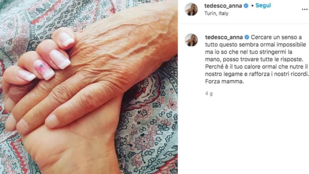 post instagram di anna tedesco