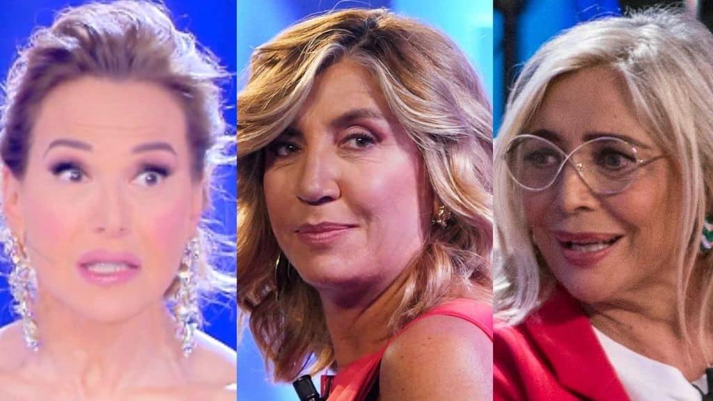 Barbara d'Urso, Myrta Merlino e Mara Venier in primo piano