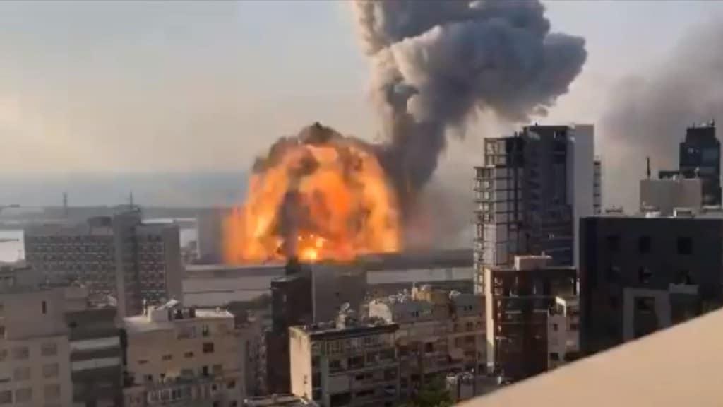 L'esplosione nel porto di Beirut, in Libano