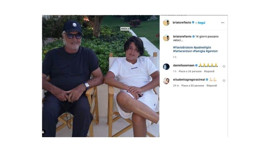 Il post di Flavio Briatore sulla quarantena