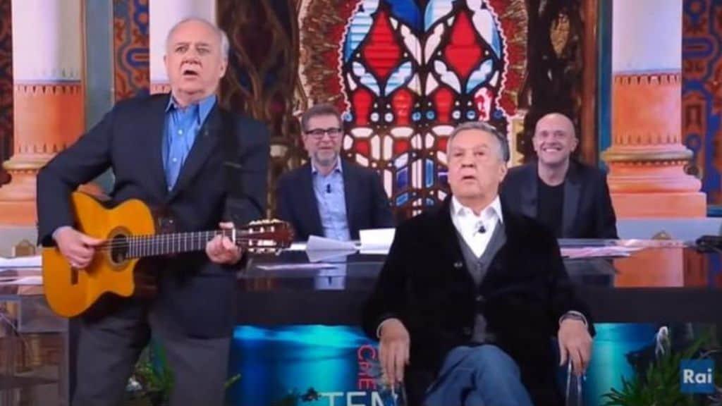 Cochi Ponzoni e Renato Pozzetto, il duo comico a Che fuori tempo che fa (Screenshot Rai - puntata 14/01/2019)