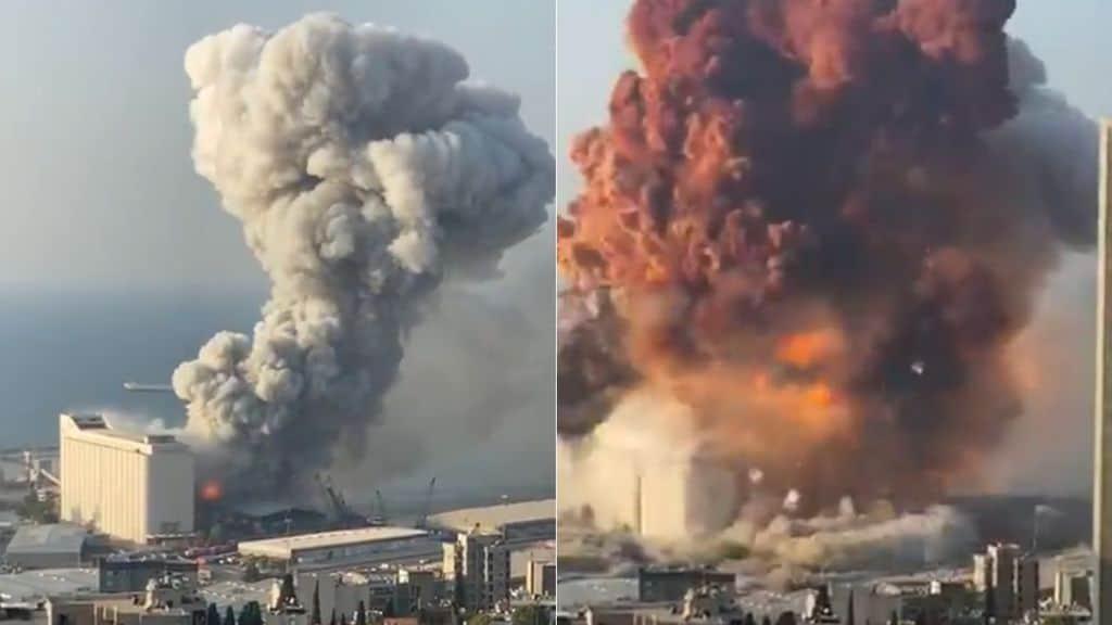 L'esplosione a Beirut, in Libano