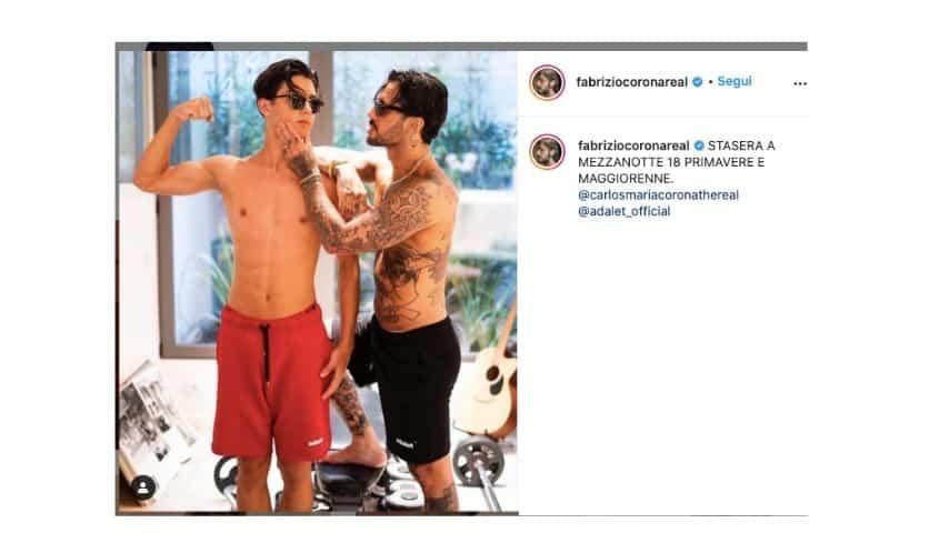 Fabrizio Corona insieme a Carlos