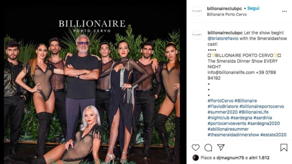 Flavio Briatore al Billionaire di Porto Cervo