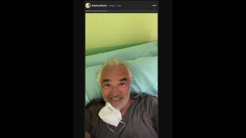 flavio briatore nel letto d'ospedale